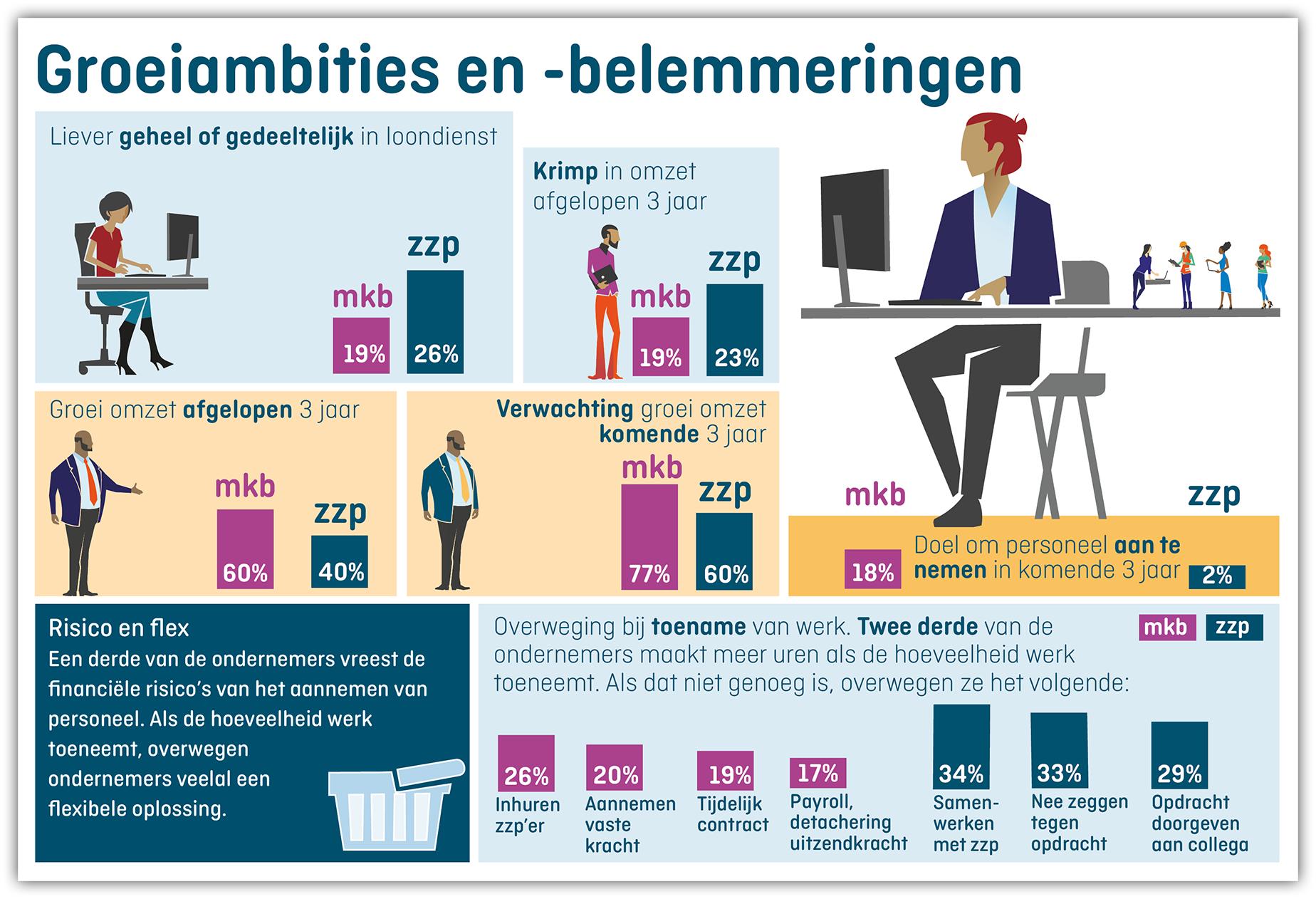Infographic Groeiambities en groeibelemmeringen